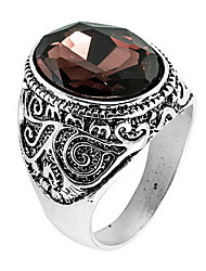 Ring Daily Casual Jewelry Crystal Alloy Ring 1pc,8 9 10 11 Coffee