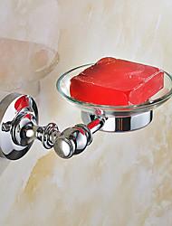 European Style Solid Stainless Steel Silver Bathroom Shelf Bathroom Soap Basket Bathroom Accessories