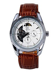 Automatic Mechanical Watch Men's Watch Belt Watch Back Through The Hollow Table Business Male Watch A Generation Of Hair 1025