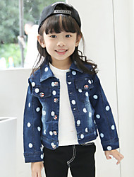 Girl's Fashion Cotton Spring/Fall Casual/Daily/Going out Cartoon Print Long Sleeve Baseball Coat Children Jacket