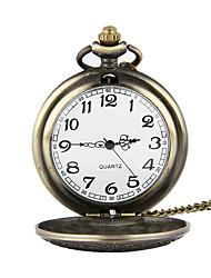 Relógio de Bolso Quartzo Lega Banda Bronze Bronze
