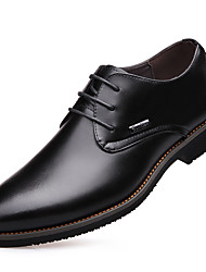 Men's Fashion Business Pointed Toe Genuine/Real Leather Shoes/Oxfords