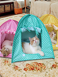 Folding Tent Pet Litter Cat Nest Cat Toy House Mosquito Cat Cat Dot Tent
