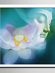 E-HOME® Framed Canvas Art Lotus and Buddha Framed Canvas Print One Pcs
