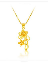 Pendant Necklaces Sterling Silver Gold Plated 18K gold Snake Flower Style Dangling Style Fashion Gold JewelryBirthday Daily Casual