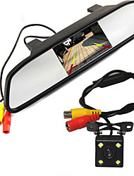 High Resolution 5 Color HD TFT LCD Car Rearview Mirror Monitor 800*480 With Auto Rear View Camera Parking Monitor System