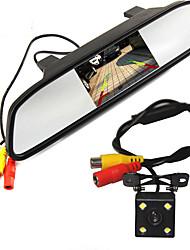 haute résolution 5 couleur miroir hd lcd tft voiture rétroviseur surveiller 800 * 480 avec l'arrière de l'automobile système de
