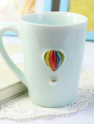 Cartoon Drinkware, 300 ml Portable Ceramic Coffee Milk Coffee Mug Travel Mugs