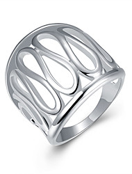 Ring Daily Jewelry Silver Plated Ring 1pc,8 Silver
