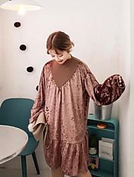 новый золотой бархатное платье свободно знак