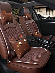 Car Seat Cushion Linen Cushion Four Seasons Universal Seat Cover Breathable And Comfortable A Set Of Five