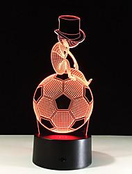 1pc futebol conduziu a lâmpada 3d cor clara visão estéreo colorido gradiente de acrílico visão lâmpada noite