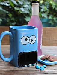 Novelty Cartoon Drinkware, 300 ml Big Mouth Ceramic Juice Water Coffee Mug