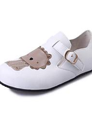 Flats Spring Comfort PU Outdoor Flat Heel Black White