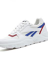 Femme-Décontracté-Blanc Noir Rose-Talon Plat-Confort-Chaussures d'Athlétisme-Polyuréthane
