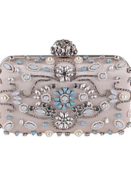 L.west Women Elegant High-grade Diamonds Pearl Evening Bag