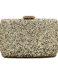 L.WEST Women Elegant High-grade Metal Sequins Evening Bag