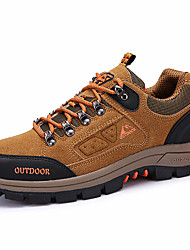 Women's Athletic Shoes Spring Fall Comfort PU Outdoor Casual Athletic Flat Heel Lace-up Purple Green Blue Khaki Hiking