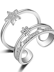 Pure Womens 925 Silver-Plated High Quality Handwork Elegant Ring 1PCS Promis rings for couples