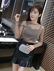 assinar nova moda senhoras saia de couro perspectiva fino top + saias peça enviada peito envolto