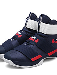 Basketball Shoes Men's Athletic Shoes Comfort Fabric Spring Summer Fall Athletic Outdoor  Comfort Lace-up Magic Tape Flat HeelDark Blue
