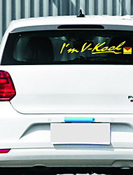 1PC Creative JDM Style I'm V-Kool Hella Flush Vinyl Motorcycle Car Sticker Decal