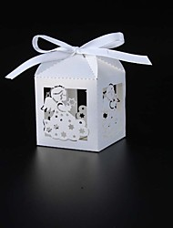 50pcs Laser Cut angel baby shower candy box baby birthday party favors gifts lovely wedding paper box gift box party supplies