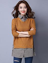signe nouvelle chemise de couverture pull femme épissage faux deux pulls marée