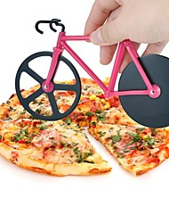 1Pcs Bicycle Pizza Cutter Dual Stainless Steel Bike Pizza Cutter Wheel Pizza Round Knife Tools Random  Color