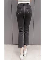 знак # 716 новая корейская версия тонкая талия яркая линия черный стрейч джинсы женский колготки рваные края весеннего половодья