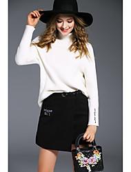 знак angelababy2016 зима нового твердая основы половины свитера женской корейская шерстяная юбка куртка +