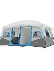 5-8 Pessoas Tenda Duplo Barracas para Acampamento Família Dois Quartos Barraca de acampamento PoliésterProva de Água Respirabilidade Á
