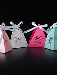 50 Stück / Set Geschenke Halter-Pyramide Perlenpapier Geschenkboxen Nicht personalisiert