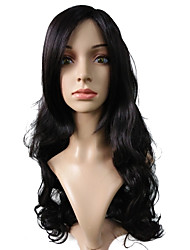 Very Long Synthetic Fiber Dark Black Wig Capless Cosplay Costume Wigs
