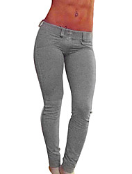 Women's Running Leggings Pants/Trousers/Overtrousers Bottoms Breathable Yoga Exercise & Fitness Slim Red Gray Black Solid Sexy