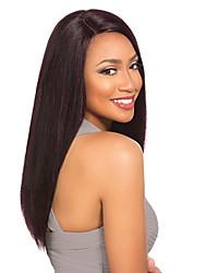 gerade Menschenhaarspitzeperücken 10-26inch Haarspitze-Frontperücken remy