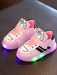 Baby Flats Spring Fall Comfort Flower Girl Shoes Leatherette Outdoor Casual Low Heel Magic Tape White Black Pink Walking