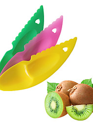 3 pcs/set 2 in 1 Kiwi Spoon Plastic Candy Color Kiwi Dig Spoon Scoop Fruit Knife Slicer Peeler Cutter With Hole