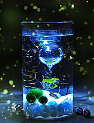 Mini Aquariums Decoration Glass Fish Tank LED Light