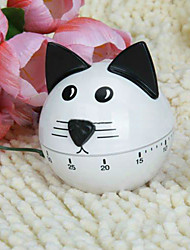 60 Minutes Cute Cat Shape Cooking Mechanical Kitchen Timer