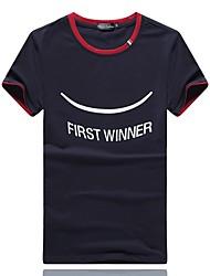 Männer&# 39; s Sommermode Kurzarm-T-Shirt des dünnen koreanischen Jugendlichen Baumwollbeiläufigen Sport-T-Shirts