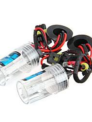 2 coches 3200lm 35w h7 bombilla de la lámpara de luz de xenón faros 6000k