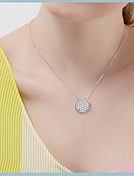 Pendentif de collier Forme Ronde Argent sterling Basique Pendant Simple Style Argent Bijoux Pour Quotidien Décontracté 1pc