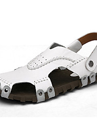 sandales printemps cuir confort automne nappa bureau en plein air d'été&carrière occasionnels noir marron blanc chaussures d'eau