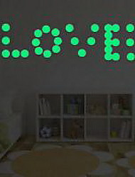 Shape Circle Luminous Wall Stickers Vinyl Material Home Decoration
