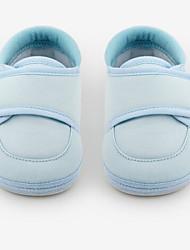 Bebê-Rasos-Primeiros Passos-Rasteiro-Rosa claro Azul Claro-Couro Ecológico-Ar-Livre Casual
