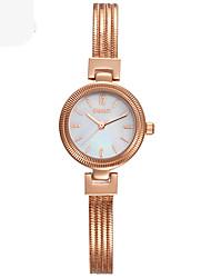 Montre Tendance Bracelet de Montre Quartz Alliage Bande Argent Doré Or Rose Or Argent Or Rose