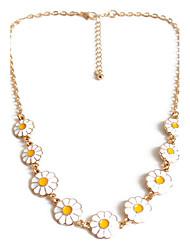 Women's Jewelry Set Strands Necklaces Jewelry Flower Jewelry Daisy Alloy Flower Style Fashion Personalized Euramerican European Jewelry