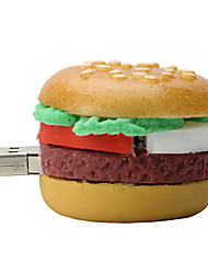 64GB Hamburger Rubber USB2.0 Flash Drive Disk