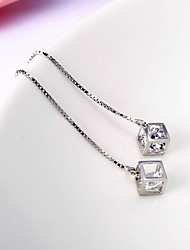Drop Earrings Crystal Sterling Silver Austria Crystal Jewelry For Daily Casual